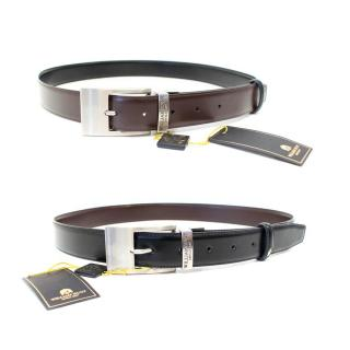 William Hunt Black and Brown Reversible Leather Belt