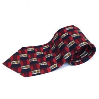 Hardy Amies Sred/blue silk Tie