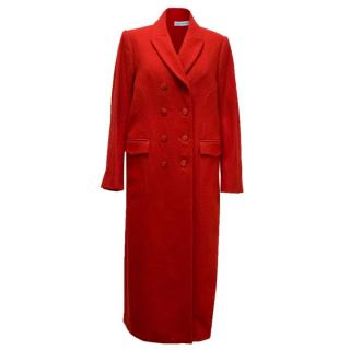 Trager Delaney Red Wool Longline Coat