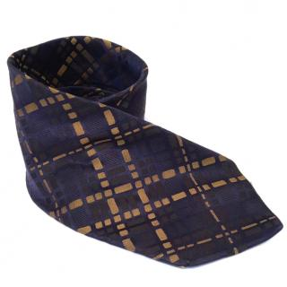Paul Smith blue and gold silk tie
