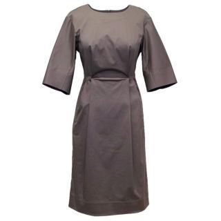 Jil Sander Charcoal Midi Sheath Dress