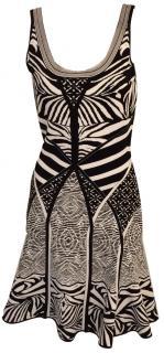 Diane von Furstenberg flared zebra print dress