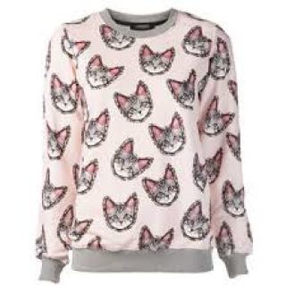 Markus Lupfer Candy Pink Meow Sweatshirt