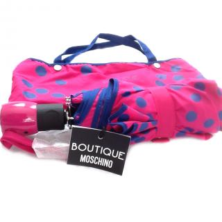 Moschino Boutique Mini Spotted Umbrella with bag