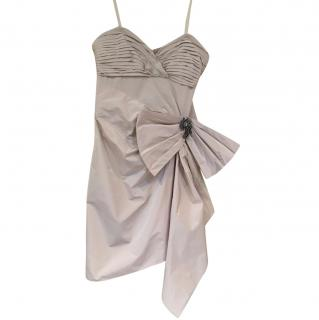 BCBG Max Azria Dress with Bow and crystal Broach size UK 10