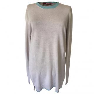 MaxMara 100% virgin wool knit shirt