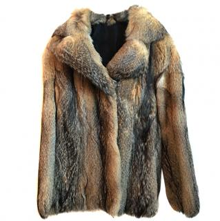 Fox fur coat 8-10uk