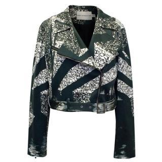 Mary Katrantzou Black and Cream Print Jacket