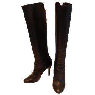 Carolina Herrera black knee length boots