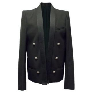 Balmain Black Military Style Jacket