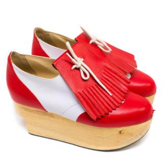 Vivienne Westwood Red and White 'Rocking Horse' Golf Shoes