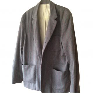Toast  Grey and Red Striped Flannel Jacket/Blazer
