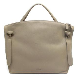 Jil Sander Taupe Leather Tote Bag