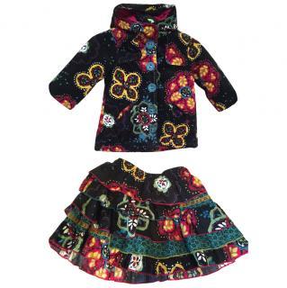 Catimini Jacket and matching skirt age 2 years