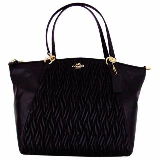 Coach Kelsey Twisted Black Satchel