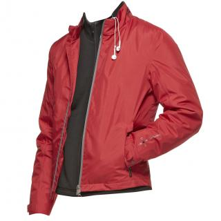 Zegna Sports Bluetooth-enabled Icon Red Jacket with joystick controls