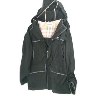 Burberry Girl's  Black raincoat
