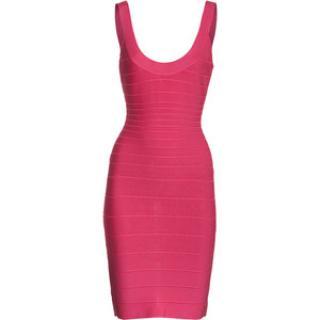 Herve Leger pink Sydney  dress