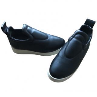 CELINE runway black lambskin slip on sneaker