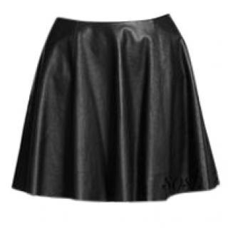 Theory Lambskin Flared Skirt