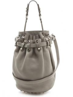Alexander Wang Diego Bucket Bag - Grey Textured Leather