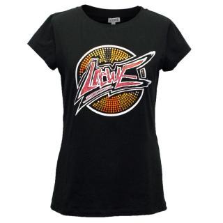 Loewe Black Logo T-Shirt with Embellishments