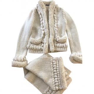 Alexander McQueen Wool jacket with matching scarf