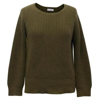 Leetha Khaki Ribbed Knitted Sweater