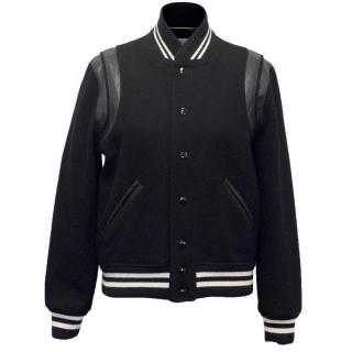 Saint Laurent Black Bomber Jacket