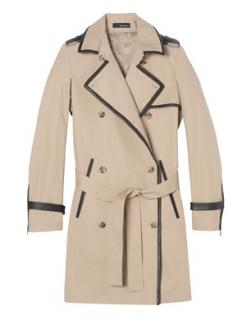 Kooples Leather Bound Trench Coat