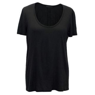 The Row Black Tee