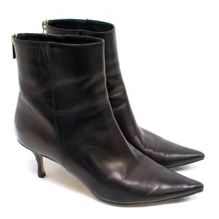 Jimmy Choo Black 'Kay' Leather Ankle Boots
