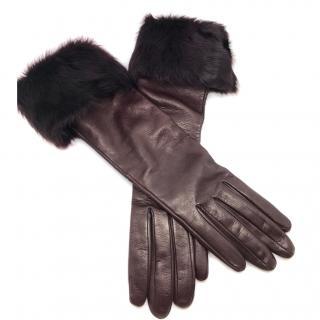 Dolce & gabbana long leather gloves