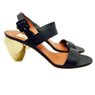 Valentino black leather sandals