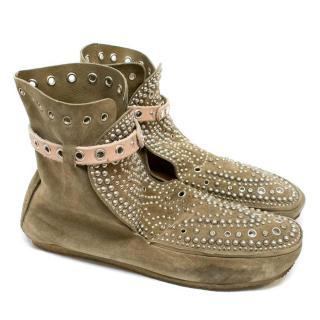 Isabel Marant 'Morley' Studded Suede Moccasin Boots