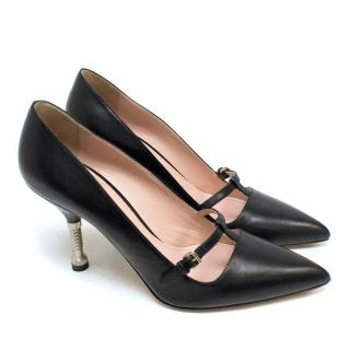 Miu Miu Black 'Appleford' Court Shoes