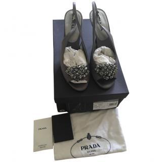 Prada jewelled sling back sandals