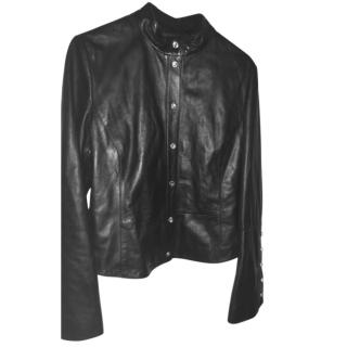 Emporio  Armani Black leather jacket