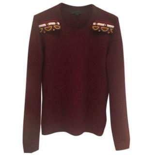 Burberry Prorsum cashmere embellished sweater
