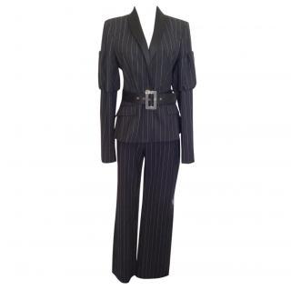 Just cavalli black stripe suit