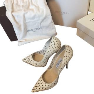 Anouk 120 Perforated leather pumps