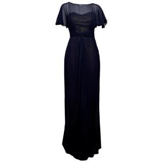 Badgley Mischka Silk Organza Gown
