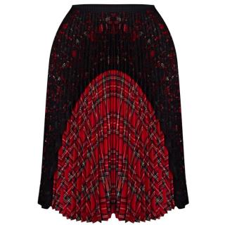 Antonio Marras Pleated Tartan Skirt