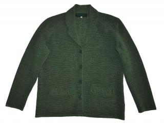 CARVEN Paris Green Wool Cardigan