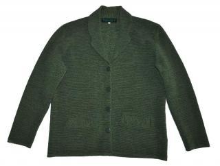 CARVEN Paris Green Wool Cardigan