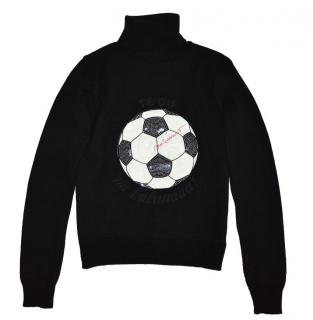 MOSCHINO Black Wool Jumper with Ball and sequins