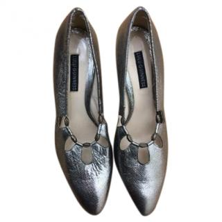 Lulu Guinness  Silver Pumps