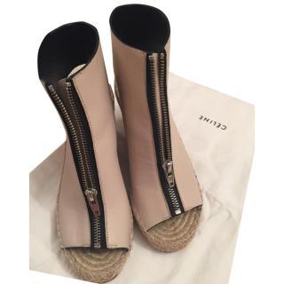 Celine Wedge Sandal/Booties