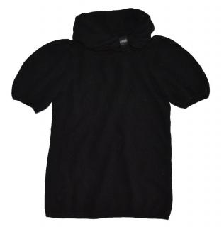 MARC JACOBS Black Wool Cashmere Sweater with big collar