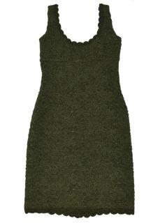 Prada Green Floral Crochet Dress